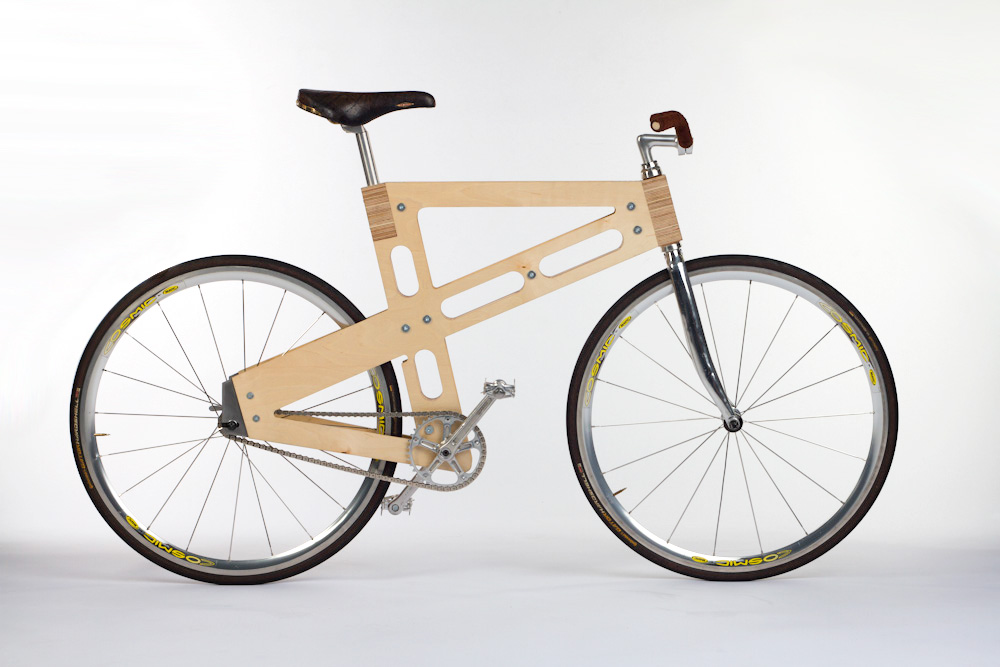 Designer Daumantas Vladarskis - Wooden bicycle frame prototype